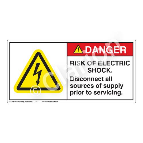Danger/Risk of Electric Shock Label (H6010-BDDH)