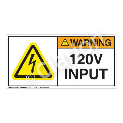 Warning/120V Input Label (H6010-C92WH)