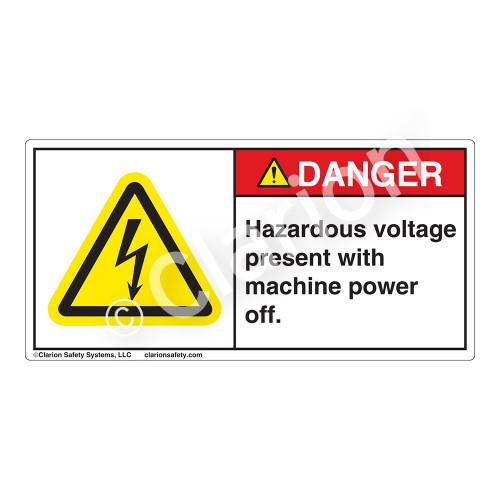 Danger/Hazardous Voltage Label (H6010-CCDH)