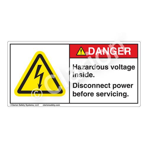 Danger/Hazardous Voltage Inside Label (H6010-CDDH)