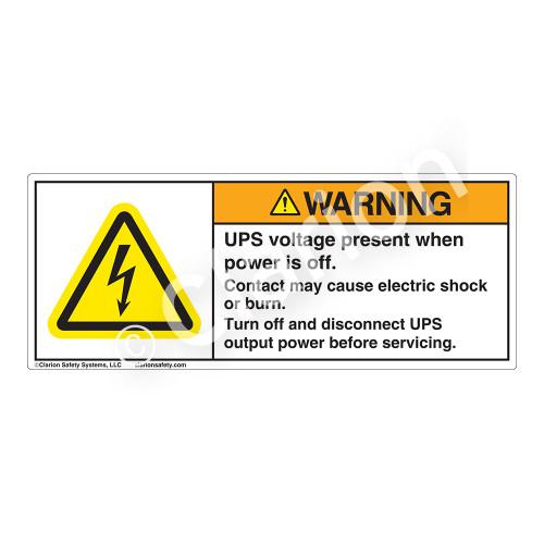 Warning/UPS Voltage Label (H6010-F69WH)