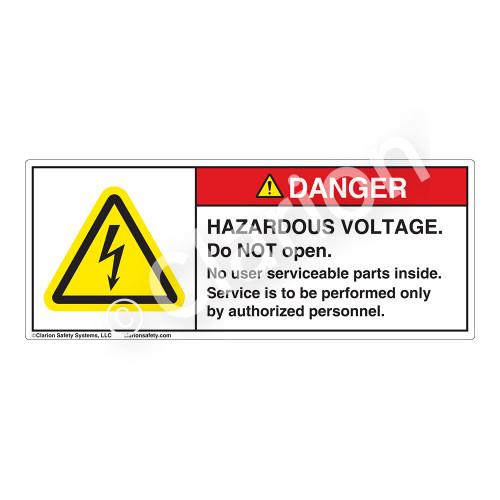 Danger/Hazardous Voltage Label (H6010-GBDH)