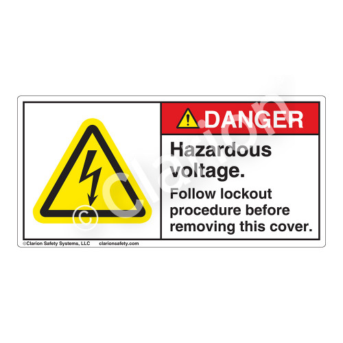 Danger/Hazardous Voltage Label (H6010-J0DH)
