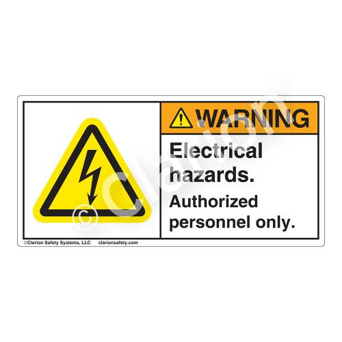 Warning/Electrical Hazards Label (H6010-JBWH)