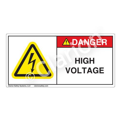 Danger/High Voltage Label (H6010-K0DH)