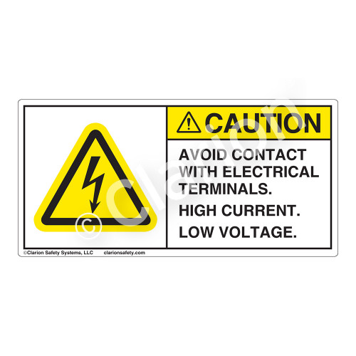 Caution/Avoid Contact Label (H6010-K58CH)