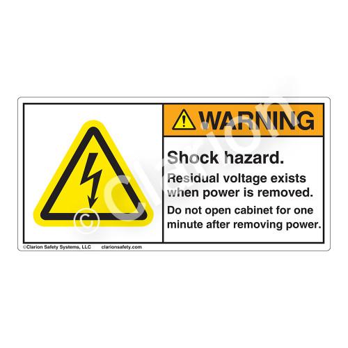 Warning/Shock Hazard Label (H6010-N92WH)