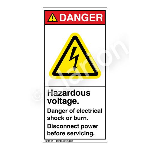 Danger/Hazardous Voltage Label (H6010-PPDV)