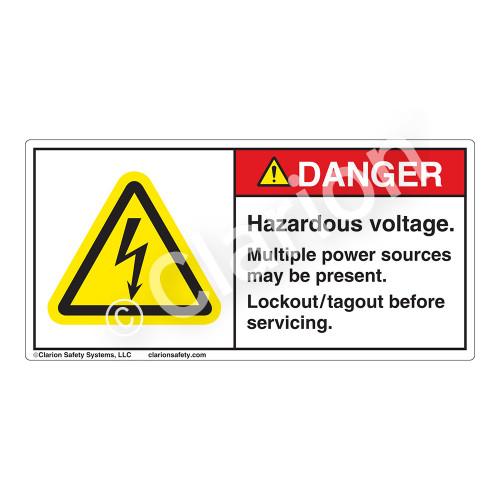 Danger/Hazardous Voltage Label (H6010-SBDH)
