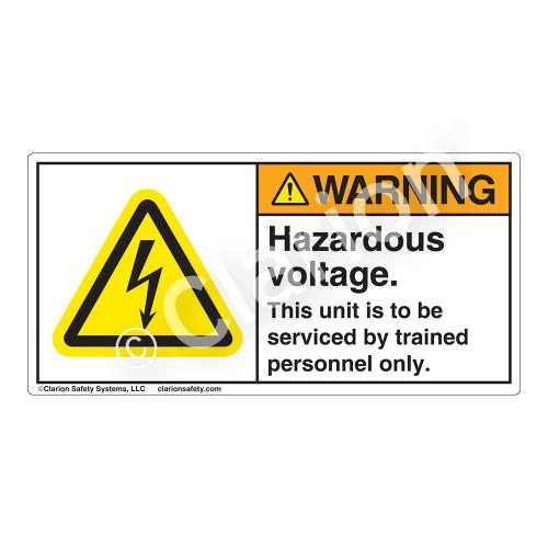 Warning/Hazardous Voltage Label (H6010-Y5WH)