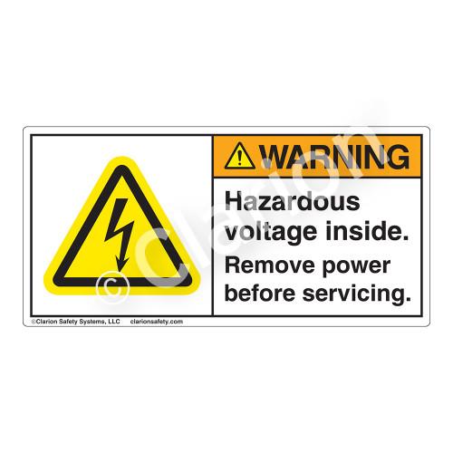 Warning/Hazardous Voltage Label (H6010-Y9WH)