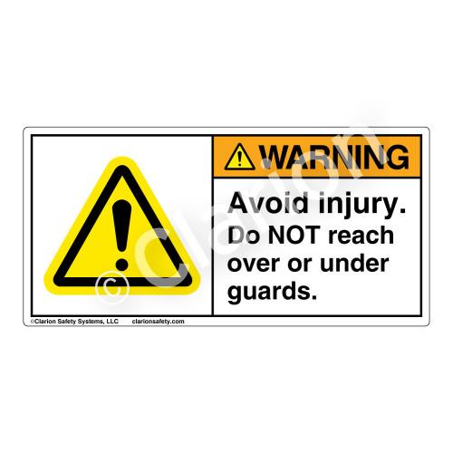 Warning/Avoid Injury Label (H6014-158WH)
