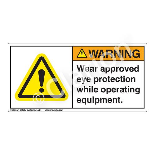 Warning/Chemical Splash Hazard Label (H6014-AUWH)