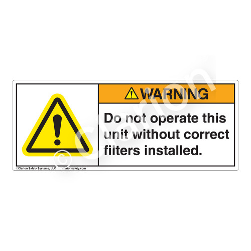 Warning/Do Not Operate Label (H6014-H27WH)