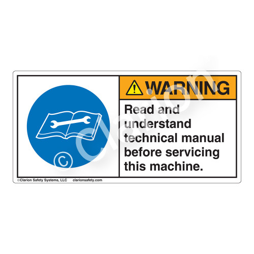 Warning/Read And Understand Label (H6018-CZWH)