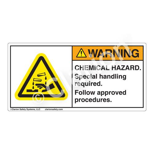 Warning/Chemical Hazard Label (H6023-ARWH)