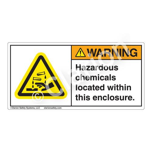 Warning/Hazardous Chemicals Label (H6023-E2WH)