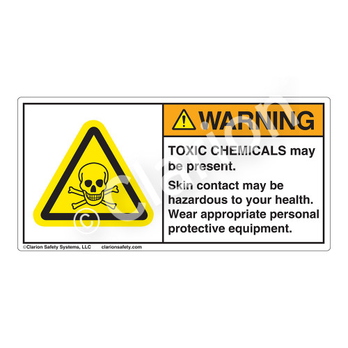 Warning/Toxic Chemicals Label (H6024-NSWH)