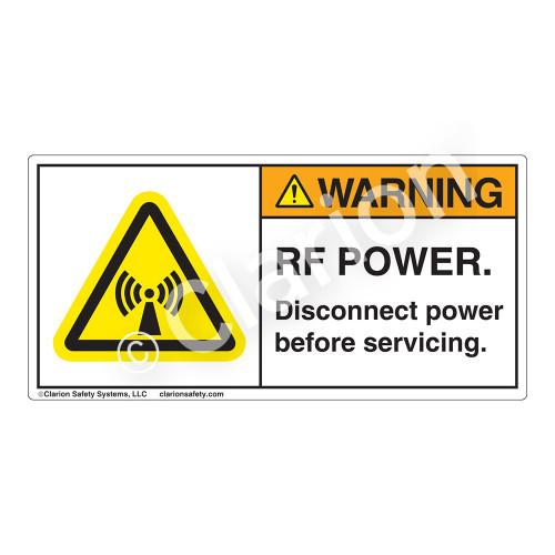 Warning/RF Power Label (H6027-BVWH)