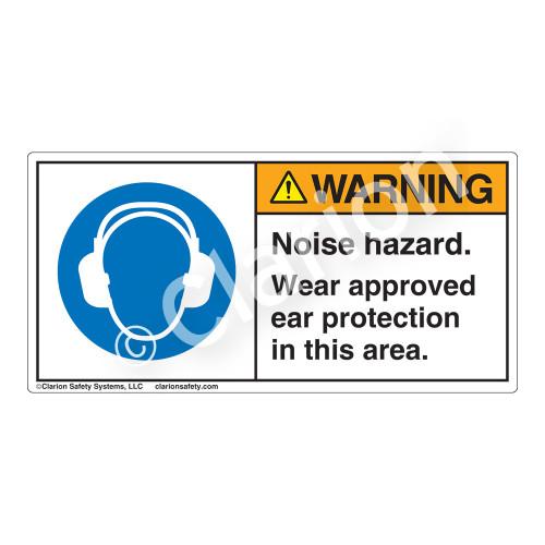 Warning/Noise Hazard Label (H6030-C9WH)