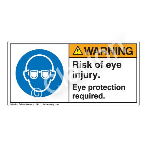 Warning/Risk Of Eye Injury Label (H6031-NXWH)
