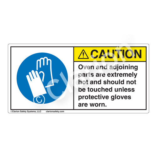 Caution/Oven And Adjoining Parts Label (H6033-EJCH)