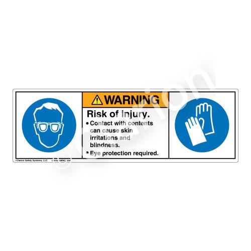 Warning/Skin Irritation Label (H6040/6033-20)