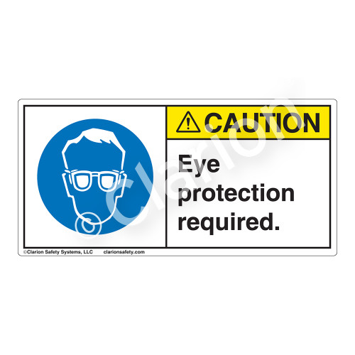 Caution/Eye Protection Required Label (H6040-NWCH)