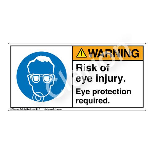 Warning/Risk Of Eye Injury Label (H6040-NXWH)