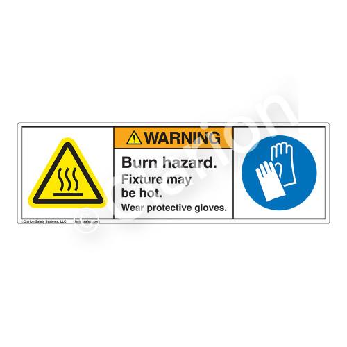 Warning/Burn Hazard Label (H6043/6033-D6)