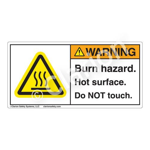 Warning/Burn Hazard Label (H6043-0)