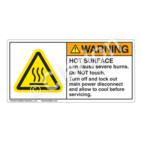 Warning/Hot Surface Label (H6043-340WH)