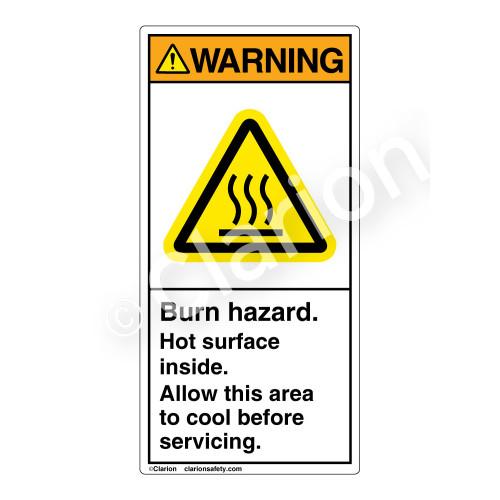 Warning/Burn Hazard Label (H6043-6BWV)