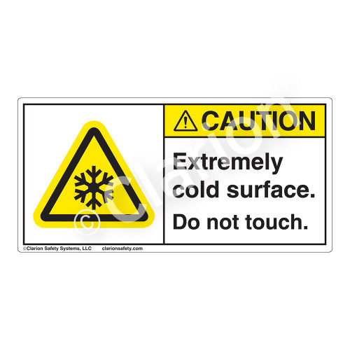 Caution/Extremely Cold Surface Label (H6044-A76CH)