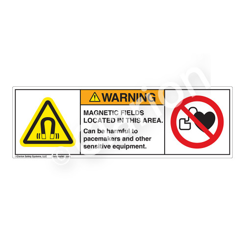 Warning/Magnetic Fields Label (H6048/6063-275WH)