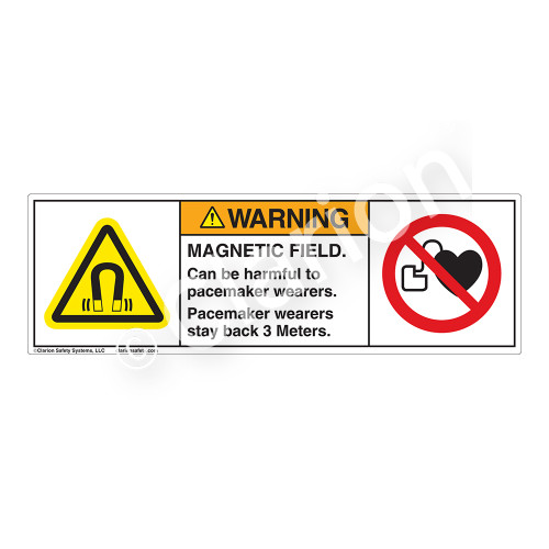 Warning/Magnetic Field Label (H6048/6063-4TWH)