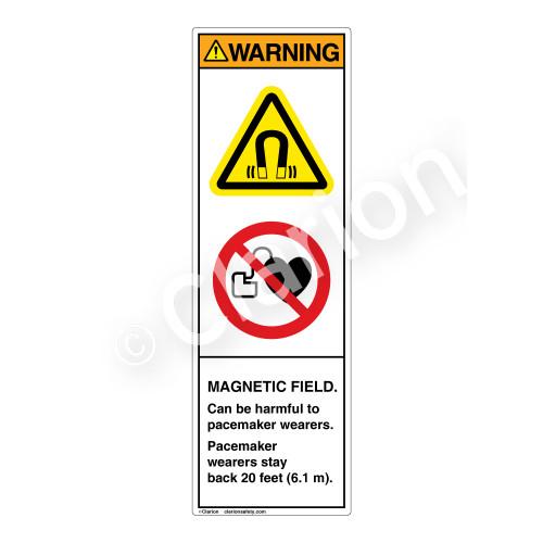 Warning/Magnetic Field Label (H6048/6063-L33WV)