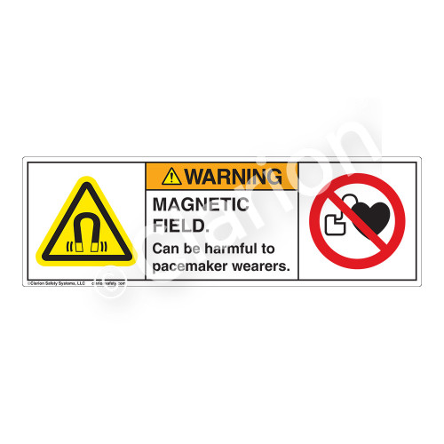 Warning/Magnetic Field Label (H6048/6063-N53WH)