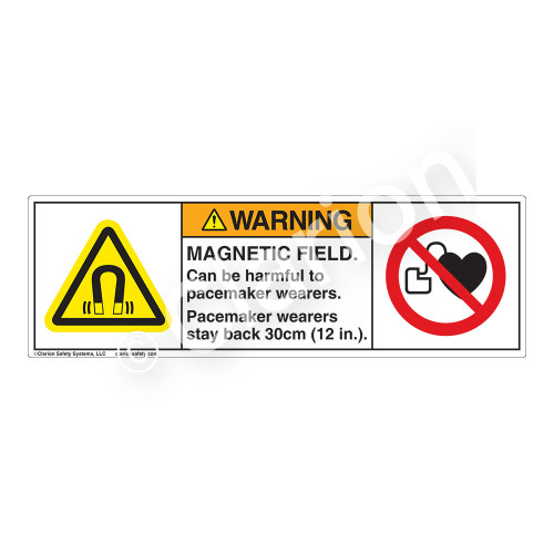 Warning/Magnetic Field Label (H6048/6063-NCWH)