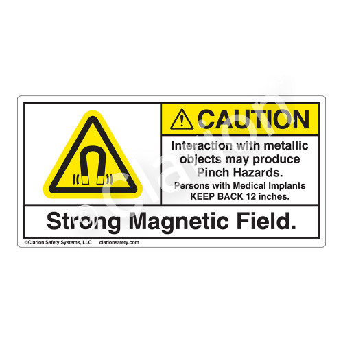 Caution/Strong Magnetic Field Label (H6048-499CH)