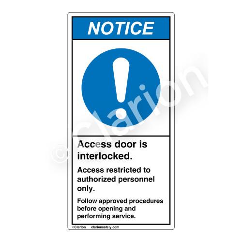 Notice/Access Door Interlocked Label (H6055-H17NV)