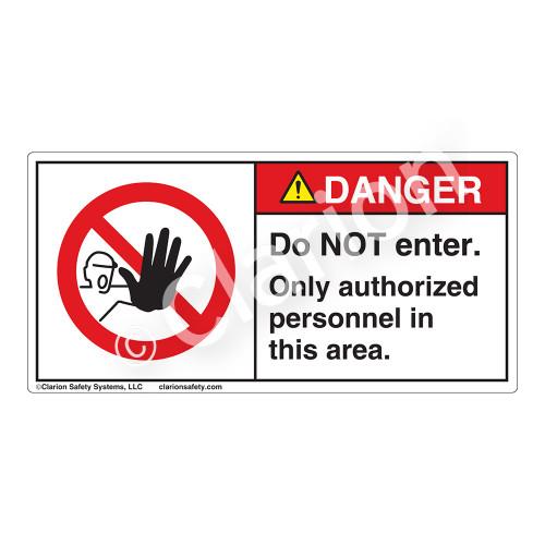 Danger/Do Not Enter Label (H6062-P7DH)