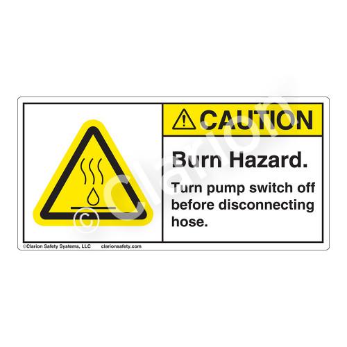 Caution/Burn Hazard Label (H6068-GYCH)