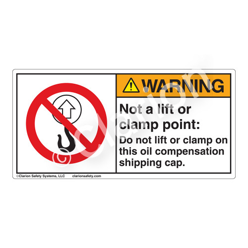 Warning/Not a Lift or Clamp Point Label (H6070-J80WH)