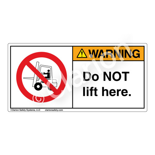 Warning/Do Not Lift Here Label (H6074-D47WH)