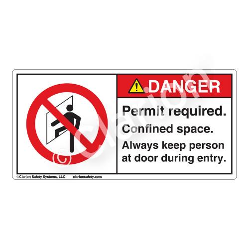 Danger/Permit Required Label (H6111-U1DH)