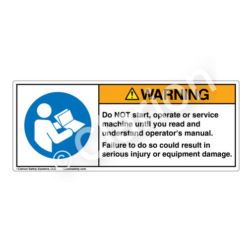 Warning/Do Not Start Label (H6126-W99WH)