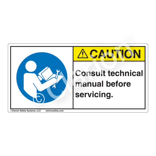 Caution/Consult Technical Manual Label (H6127-NYCH)