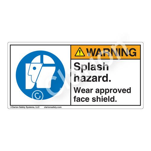 Warning/Splash Hazard Label (H6129-NVWH)