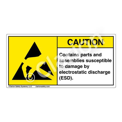 Caution/Contains Parts Label (H6131-382EH)